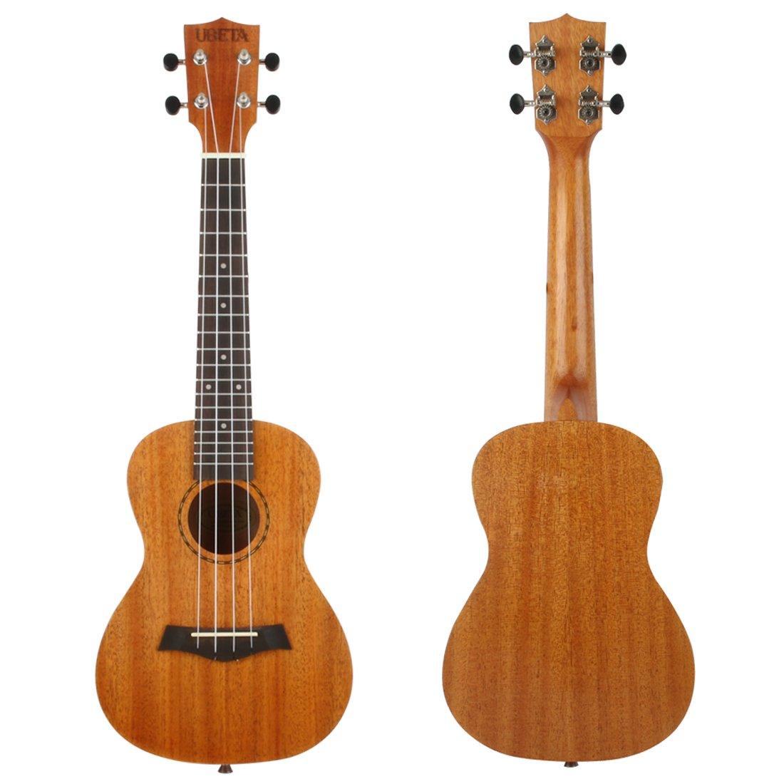 Ukelele soprano y concierto de la marca UBETA US&UC, de madera de caoba, para principiantes, con cuerdas Aquila, conjunto de 5 en 1Funda, ...