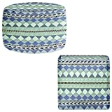 Foot Stools Poufs Chairs Round or Square from DiaNoche Designs by Nika Martinez - Purple Native Forest