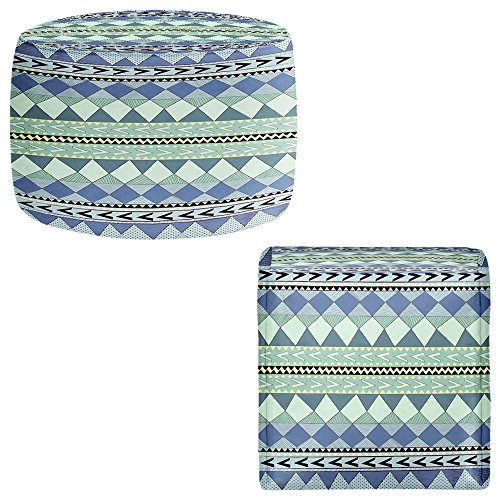Foot Stools Poufs Chairs Round or Square from DiaNoche Designs by Nika Martinez - Purple Native Forest by DiaNoche Designs