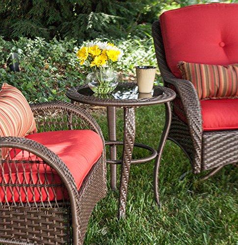 La-Z-Boy-Outdoor-Bristol-Resin-Wicker-Bistro- - La-Z-Boy Outdoor Bristol Resin Wicker Bistro Patio Furniture Set