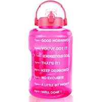 BuildLife Gallon Water Bottle Motivational-BPA Free Flip Top Leakproof Lid with Phone Holder Handle & Time Marker to…
