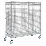 Wire Security Storage Truck, 36 x 18 x 69, 1200 Lb. Capacity