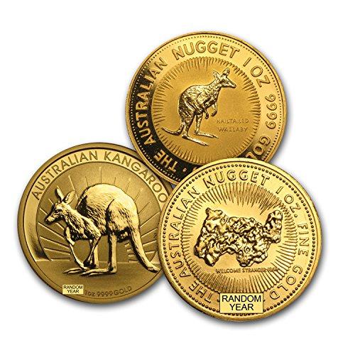 - 1987 AU - Present Australia 1 oz Gold Kangaroo BU (Random Year) 1 OZ Brilliant Uncirculated