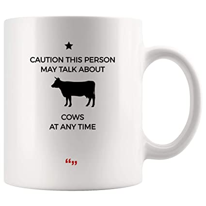 Amazon.com: Caution Person Talk Cows Any Time Farmer Farm Farming ... #coffeeTime
