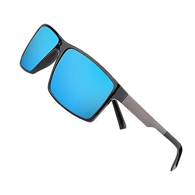 668133b7a3 Kennifer Fashion Mens Polarized Sunglasses Lightweight Rectangular Glasses  Unbreakable Frame Men Eyewear for Driving Outdoors Fishing Cycling Sports  Beach ...