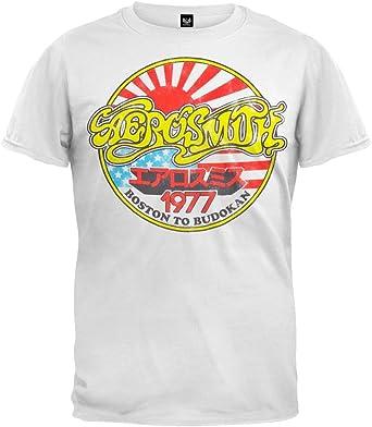 Aerosmith - Camiseta - Manga Corta - para Hombre Blanco Blanco X-Large: Amazon.es: Ropa y accesorios