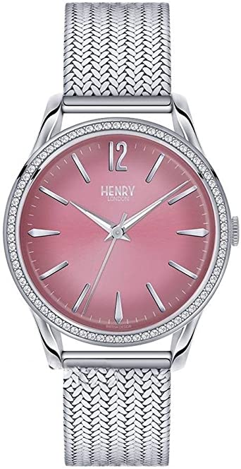 Henry London Reloj Analógico para Unisex Adultos de Cuarzo con ...