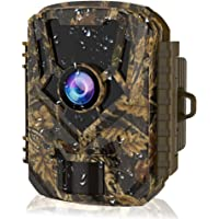 HOLLYWTOP Mini Trail Game Camera 20MP 1080P Waterproof 0.4s Trigger Speed Hunting Cams with Night Vision Motion Activated for Wildlife Monitoring and Home Security