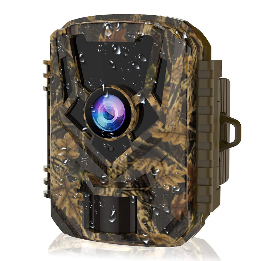 HOLLYWTOP Mini Trail Game Camera 20MP 1080P Waterproof 0.4s Trigger Speed Hunting Cams with Night Vision Motion Activated for Wildlife Monitoring and Home Security 1 Pack
