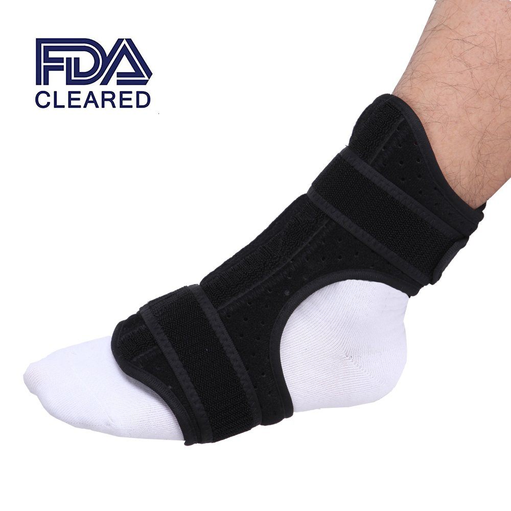 Medical Nightime Foot Drop Splint, Ankle Plantar Fasciitis Foot Drop Instep Injury Night Splint Posterior with Rehabilitation Orthotic
