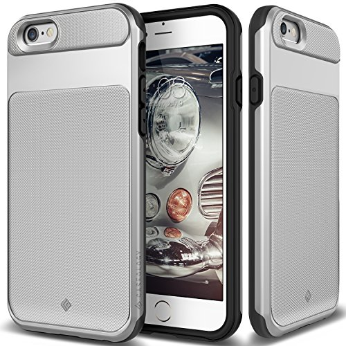 - Caseology Vault Series iPhone 6S Cover Case with Tough Rugged Heavy Duty Protection for Apple iPhone 6S (2015)/iPhone 6 (2014) - Silver