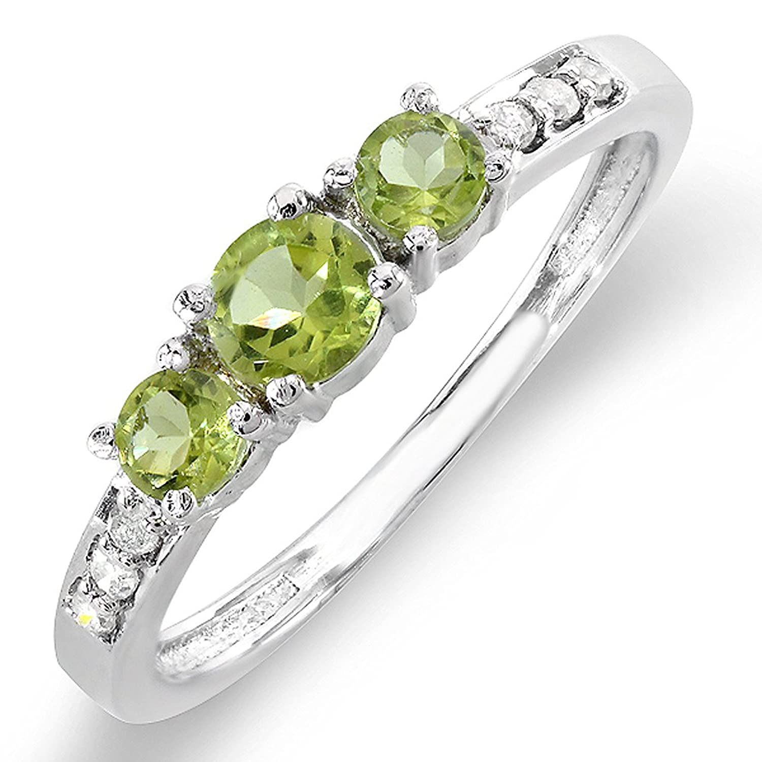 gold for rings solid ct ring natural products yellow wedding diamond side genuine stone gemstone fine peridot gem with lohaspie beautiful jewelry