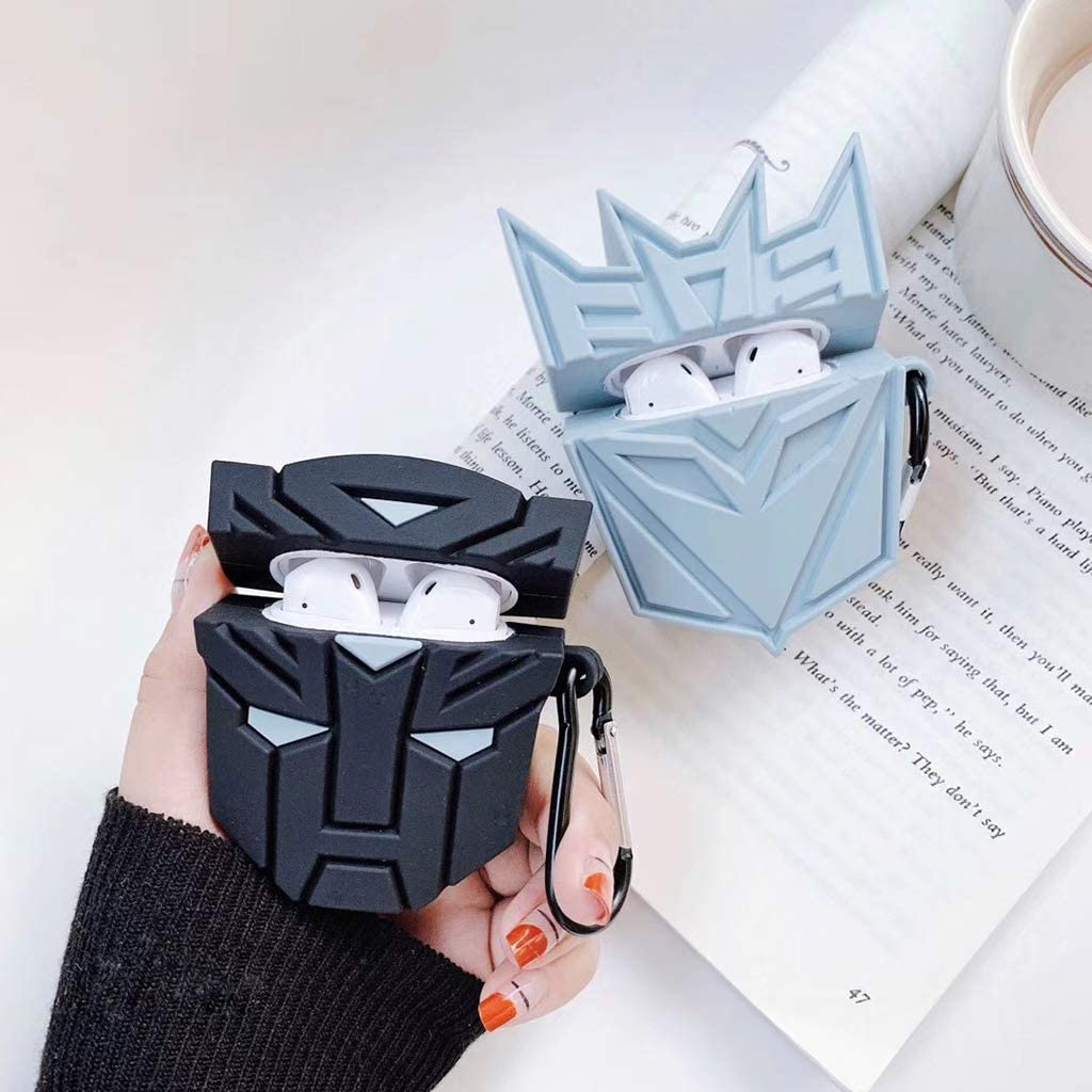 YRCHENGLI Fashion Cute Colorful Transformers Soft Silicone Protective Cover Shockproof Case Skin with Lanyard for Airpods 1//2 Charging Box