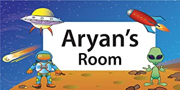Buy Kids Room Door Sign Space Design Pack Of 2 Online At Low Prices In India Amazon In