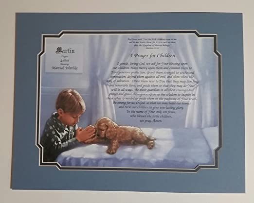 BABY IS A GIFT New Print Personalized Name Meaning Poem Prayer
