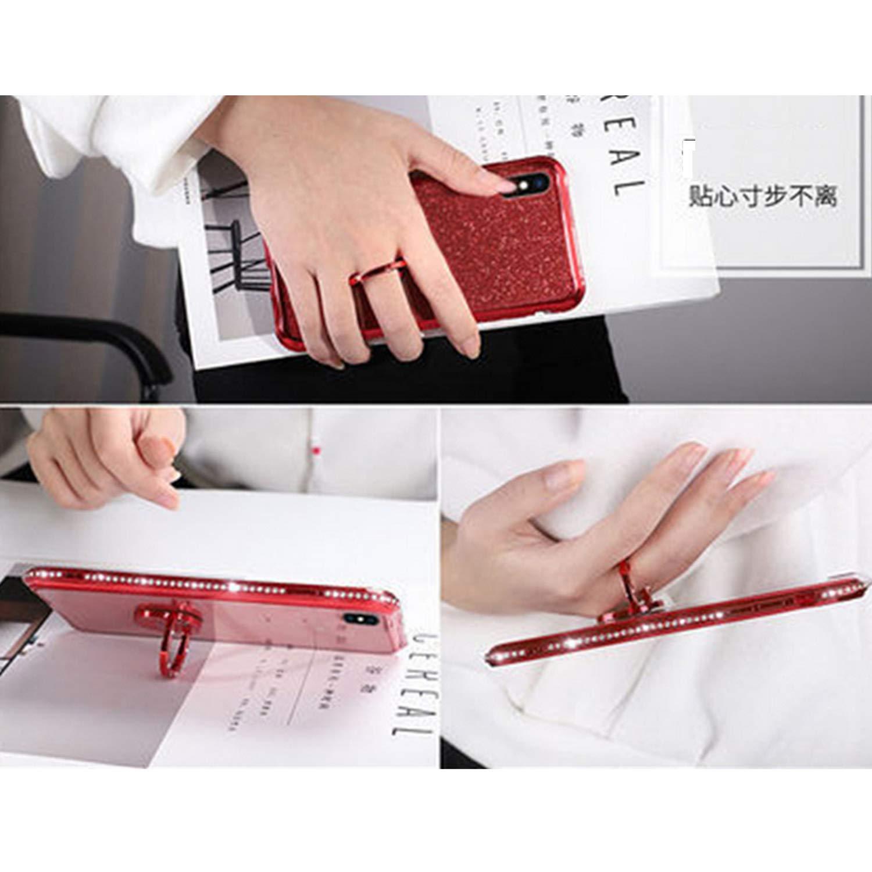 Miagon H/ülle Glitzer f/ür Xiaomi Redmi 6A,Luxus Gl/änzend M/ädchen Frauen Weich Silikon Handyh/ülle mit Strass Diamant 360 Grad St/änder Schutzh/ülle Etui Cover f/ür Xiaomi Redmi 6A
