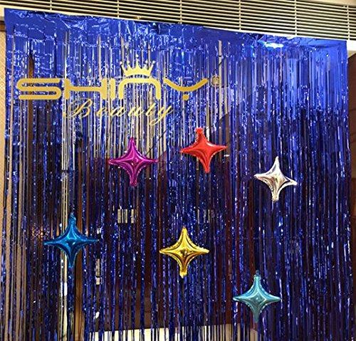 Foil Fringe Backdrop 9FTX8FT Royal Blue Fringe Accessory