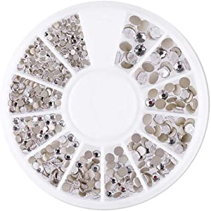 Thinktoo New Nail Disc 12 Grid Flat Bottom Diamond Magic Mixed Diamond Rhinestone Jewelry, Nail Art Polish