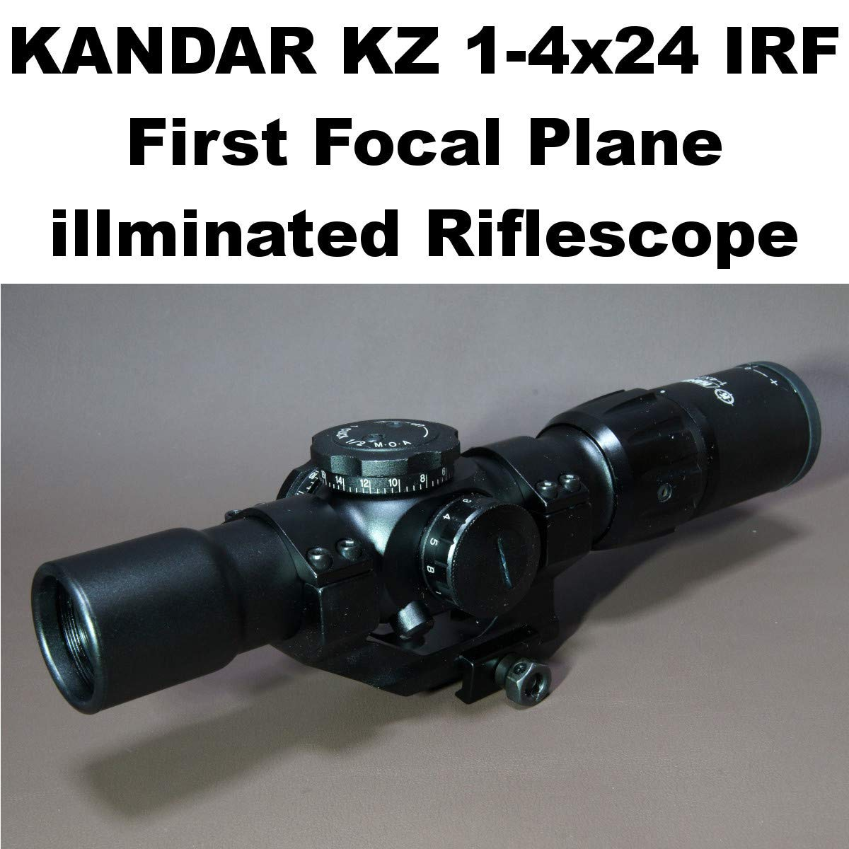 KANDAR KZ 1-4x24 FFP ライフルスコープ ミルドット レティクル マウントリング付 (627) ショートスコープ スナイパー B07S924WH6