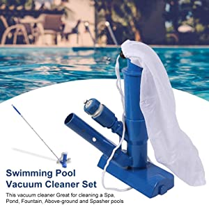 Portable Pool Vacuum Jet - Pool Underwater Cleaner| Swimming Pool Vacuum Cleaner Set for Above Ground Pool,Spas,Ponds & Fountains