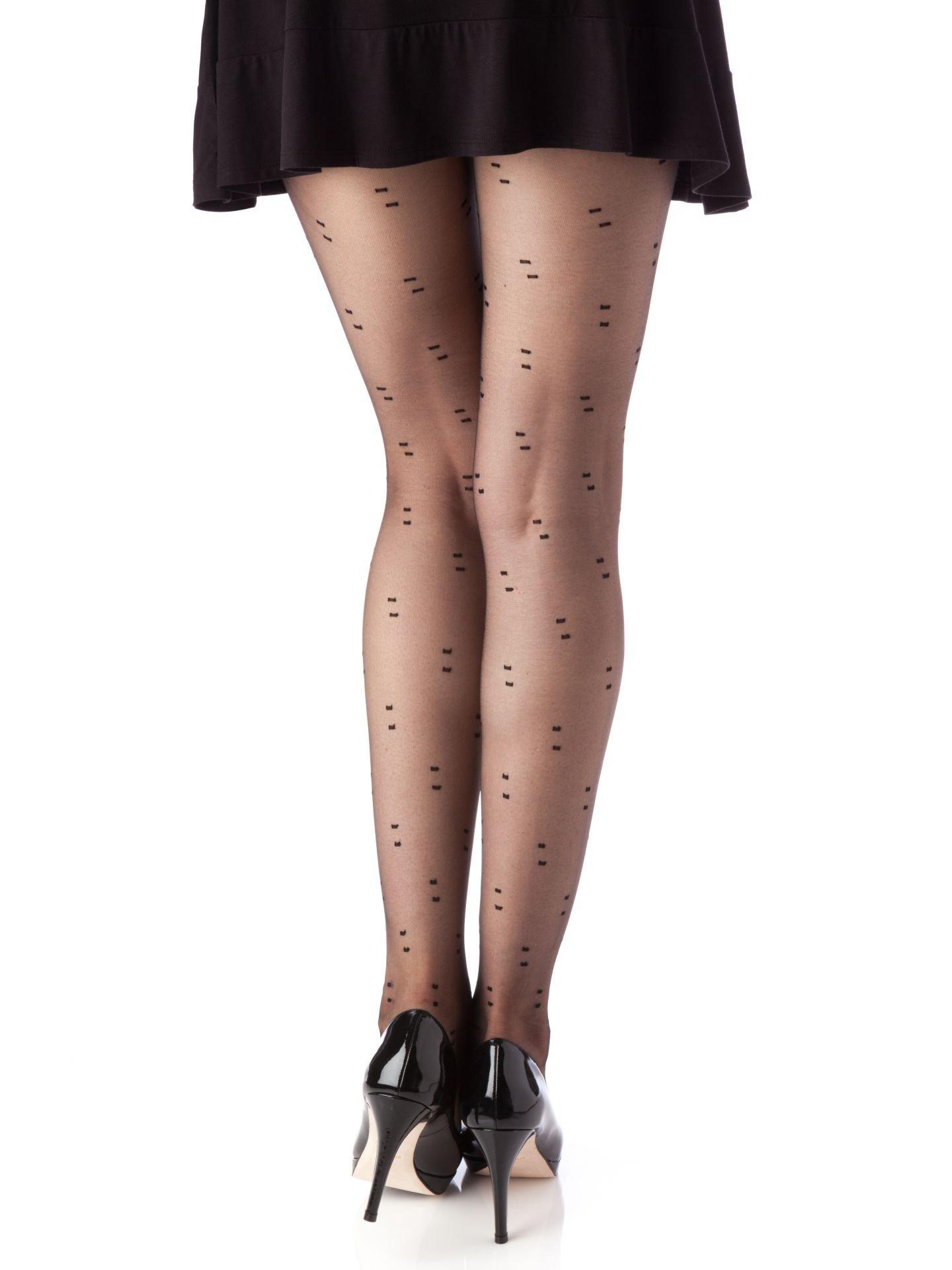 Berkshire Women's Trend City Dots Control Top Pantyhose-8865, Black, Petite