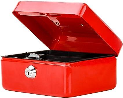 Pequeña caja de caudales con cerradura con llave, decaller ...