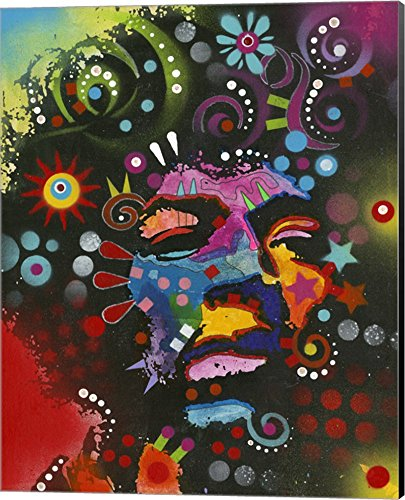 Jimi Hendrix Canvas - Jimi Hendrix by Dean Russo Canvas Art Wall Picture, Museum Wrapped with Black Sides, 16 x 20 inches