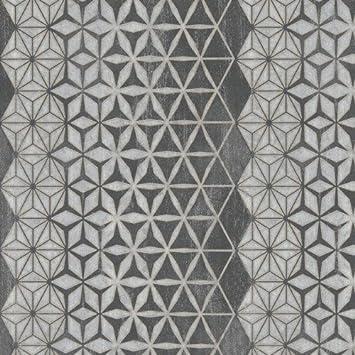 Tapete Modernes Boden Schwarz Mit Position Geometrisch Silber