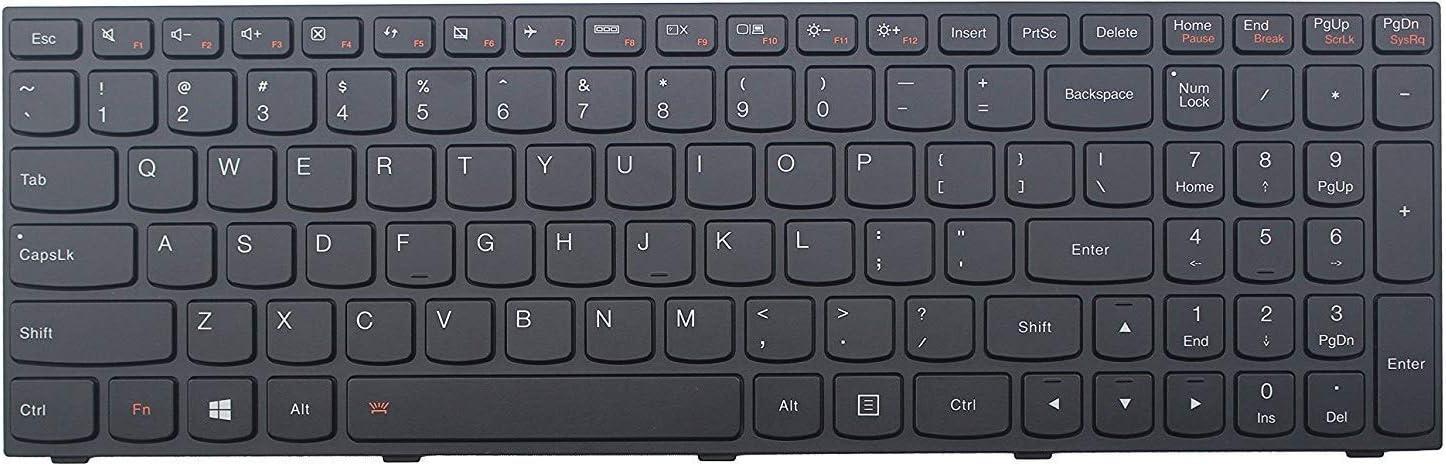 US English Backlit Keyboard for Lenovo IdeaPad Z50-75 Z70-80 E51-80 B51-80 Black Color with Frame