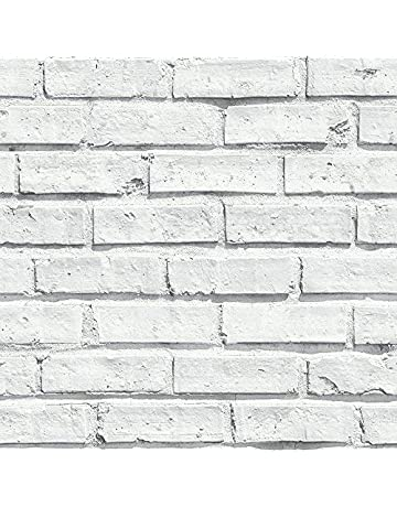 e2a288be8 Arthouse White Wallpaper, Brick, 53 cm x 10.05 m