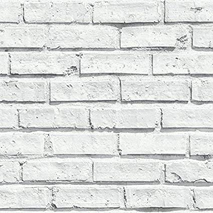 Arthouse White Painted Brick Extremely Realistic Wallpaper Modern Home Decor