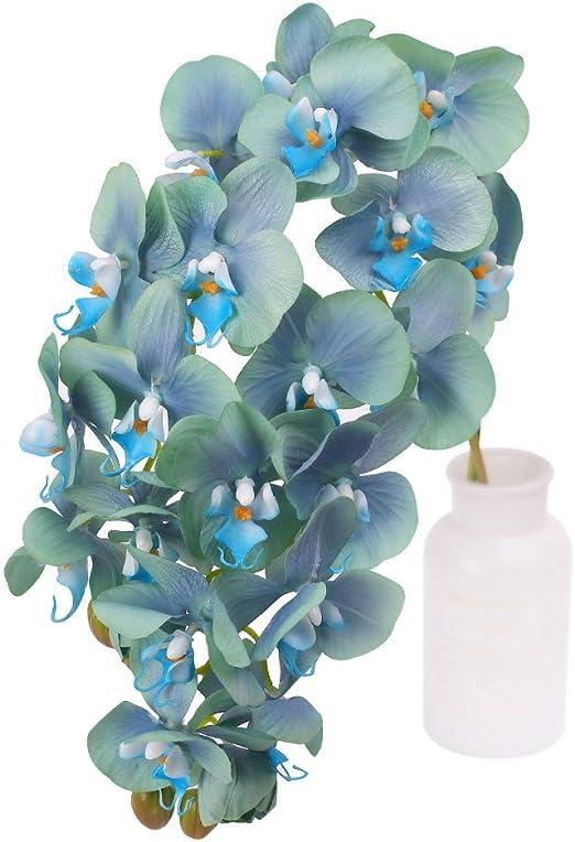 N&T NIETING Orquídea Artificial Flor de Phalaenopsis, 2 Piezas de ...