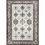 RUGGABLE Washable Stain Resistant Pet Dog Area Rug for Indoor/Outdoor – Noor Taupe 5′ x 7′ Area Rug Set For Sale