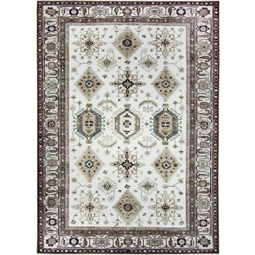 RUGGABLE Washable Stain Resistant Pet Dog Area Rug for Indoor/Outdoor - Noor Taupe 5' x 7' Area Rug Set
