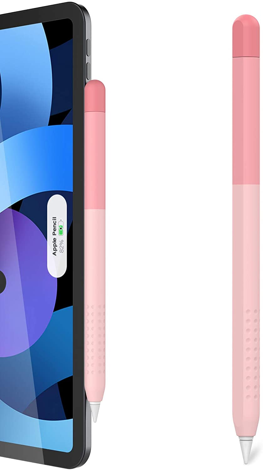 Delidigi Gradient Color iPencil Case Sleeve Silicone Cover Accessories Compatible with Apple Pencil 2nd Generation(Gradient Pink)