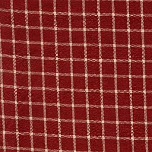 Dunroven House Reverse Window Pane Tea Towel, Red/Teadye