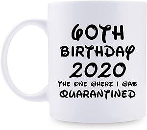 60th Birthday Gifts for Women - 1960 Birthday Gifts for Women, 60 Years Old Birthday Gifts Taza de café para mamá, esposa, amiga, hermana, ella, colega, compañera de trabajo, estuve en cuarentena