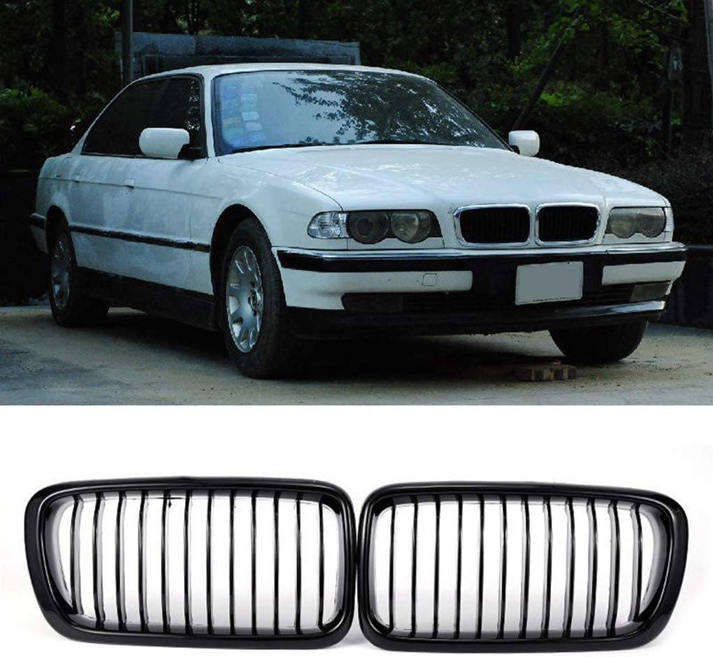 Car Front Kidney Grilles Grill repacement for BMW E38 7-Series 4D Sedan 1998-2001 Gloss Black