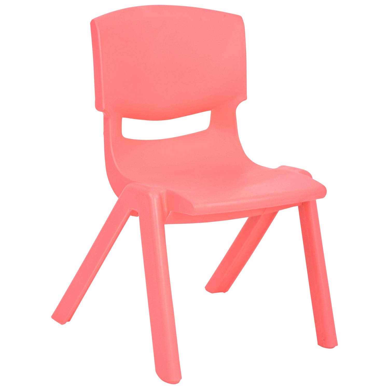 JOON Stackable Plastic Kids Learning Chairs, 20.8x12.5 Inches, The Perfect Chair for Playrooms, Schools, Daycares and Home (Coral)