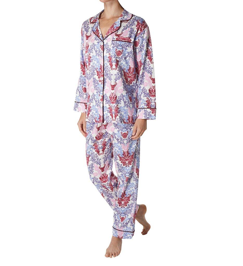 BedHead Pajamas Plum Chloe's Lace Long Sleeve PJ Set (6165) L/Mahogany Lace