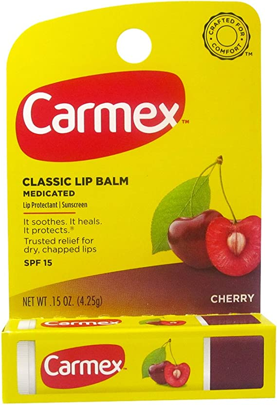 Carmex Cherry Flavor Moisturizing Lip Balm Stick SPF 15 by Carmex: Amazon.es: Belleza