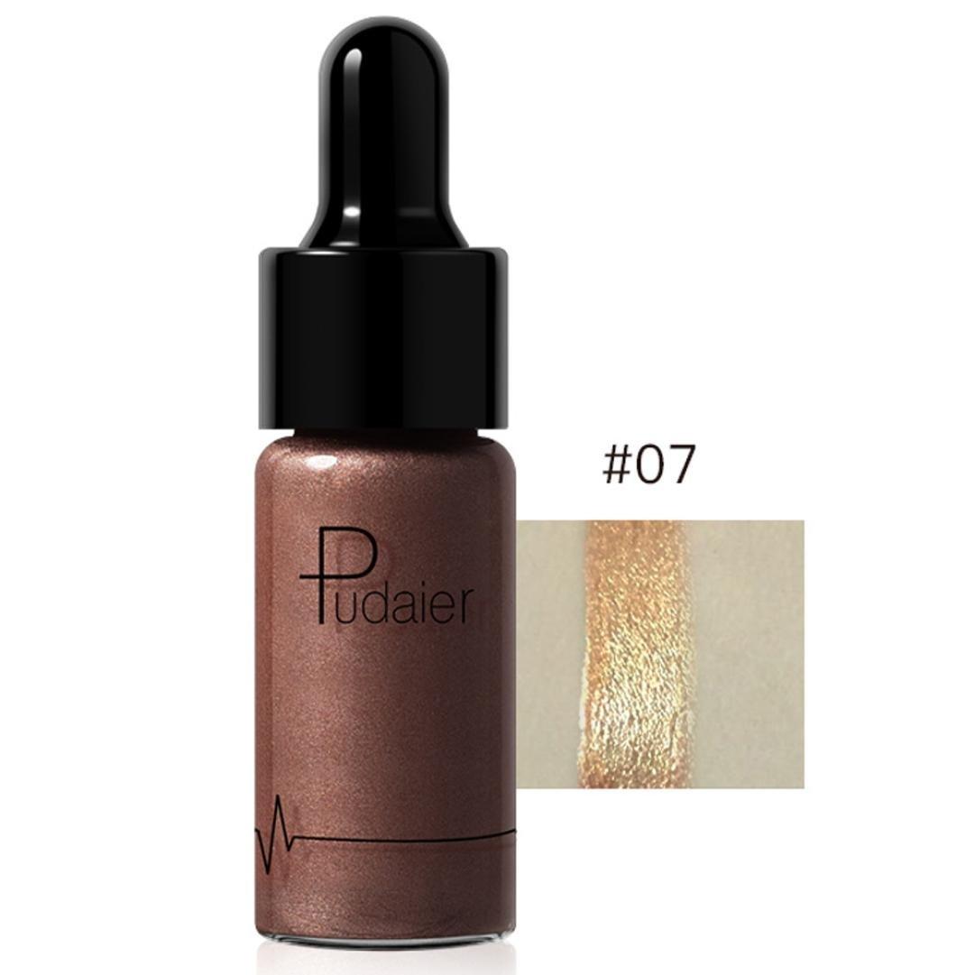 Dingji 12 Colors Highlighter Makeup Concealer Shimmer Face Glow Lip Face Liquid (G)