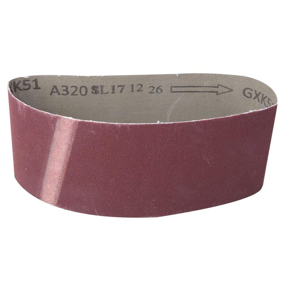 metal Banda de lijado 800# Banda abrasiva para lijadora de banda para pulir pulido de madera 10 piezas 457x75 mm Conjunto de surtido de bandas abrasivas de /óxido de aluminio cuero