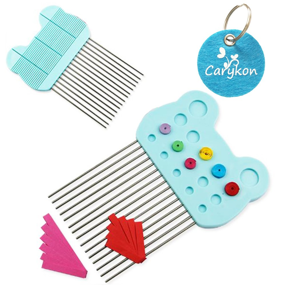 Carykon Pack of 5 Paper Quilling Tool Sets for Paper Crafting DIY-Include 1 Quilling Board with Pins Storage 2 diffrent size slotted tools & 1 Quilling Awl & 1 Quilling Curling Coach (quilling set) 4336890166