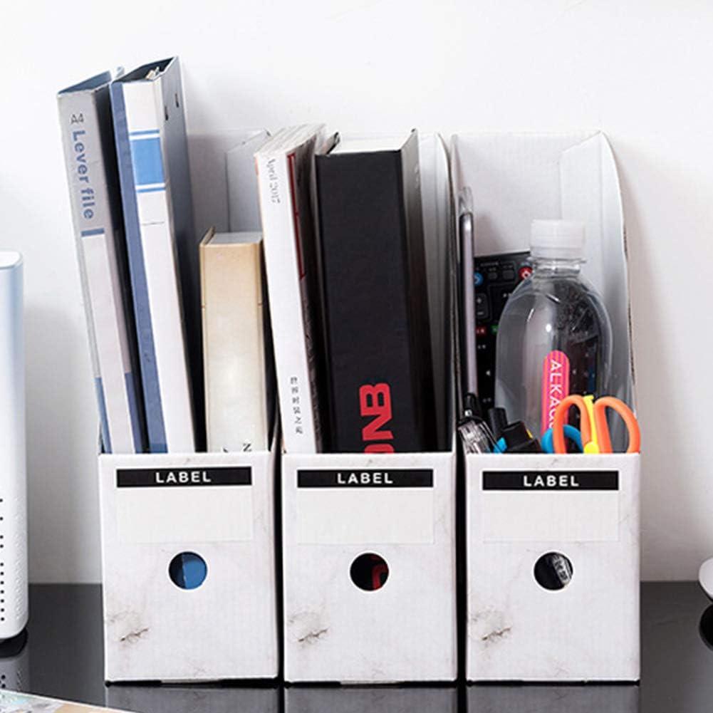 bianco portamatite Portariviste portadocumenti portariviste cancelleria da scrivania 5 confezioni di cartone
