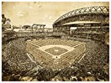 Atlas Seattle Mariners Art Sketch Style Poster Print 12x16 Wall Decor