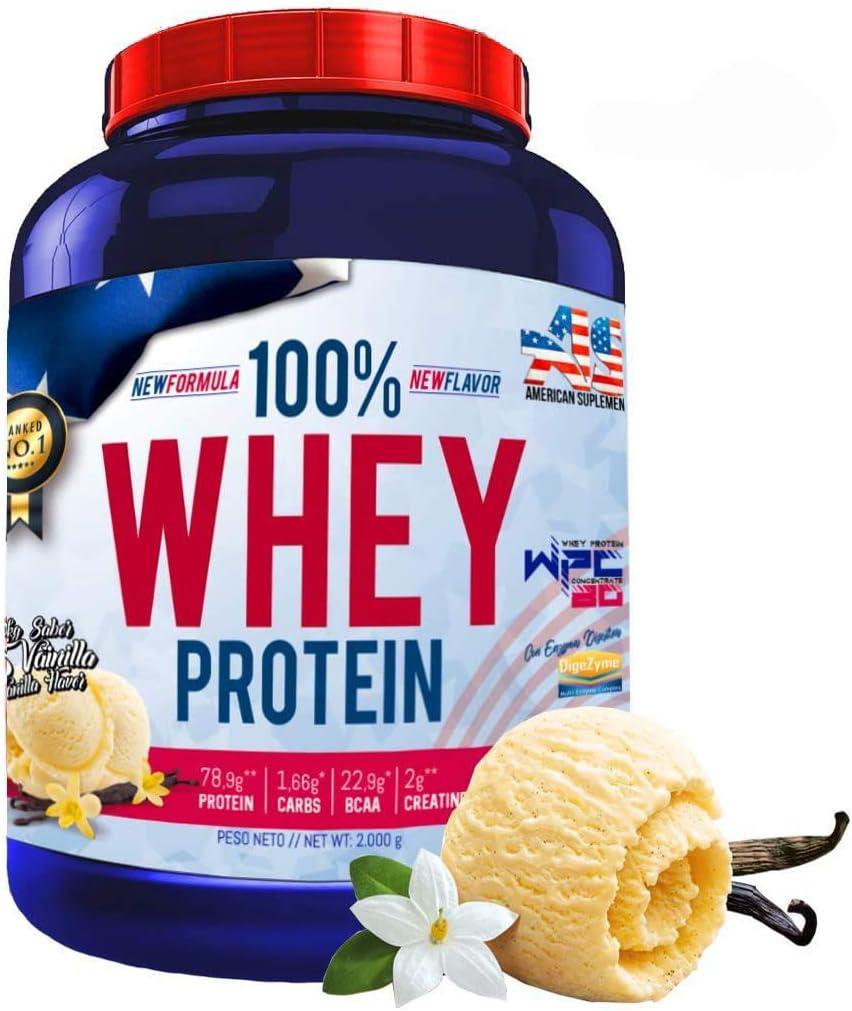 100% Whey Protein con Probioticos Lactospore, American Suplement, 2kg, vainilla