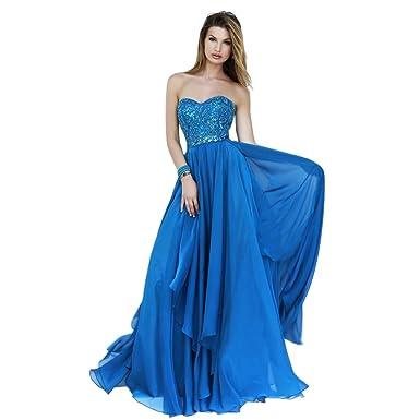 Sherri Hill Strapless Chiffon Gown Periwinkle - 12