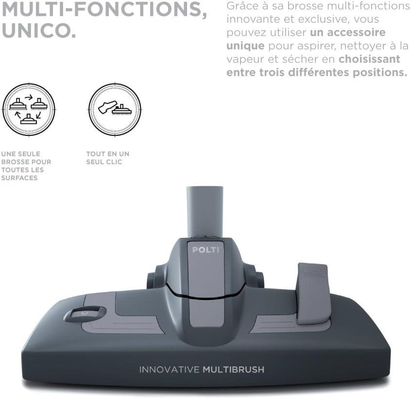 Polti Unico MCV70 Allergy Multifloor et Windows Aspirateur Multicyclonique sans Sac et Nettoyeur Vapeur, 4,5 bar, 2200 W, Blanc/Vert Blanc/Rouge