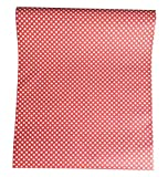 TaoGift Self-Adhesive Red Polka Dot Contact Paper Shelf Drawer Liner Dresser Wall Decal Sticker Peel and Stick Wallpaper 17.7'x78.7'